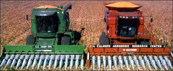 Narrow Rows Calmer Corn Heads