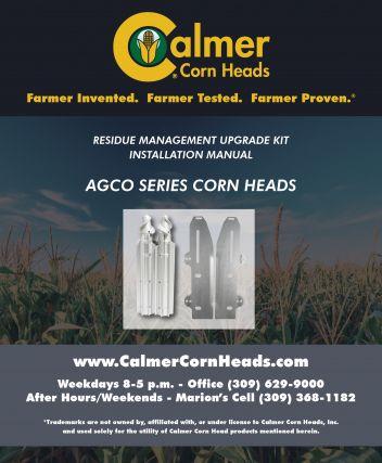 Manual cover for Calmer Cornheads Gleaner Hugger series cornheads.