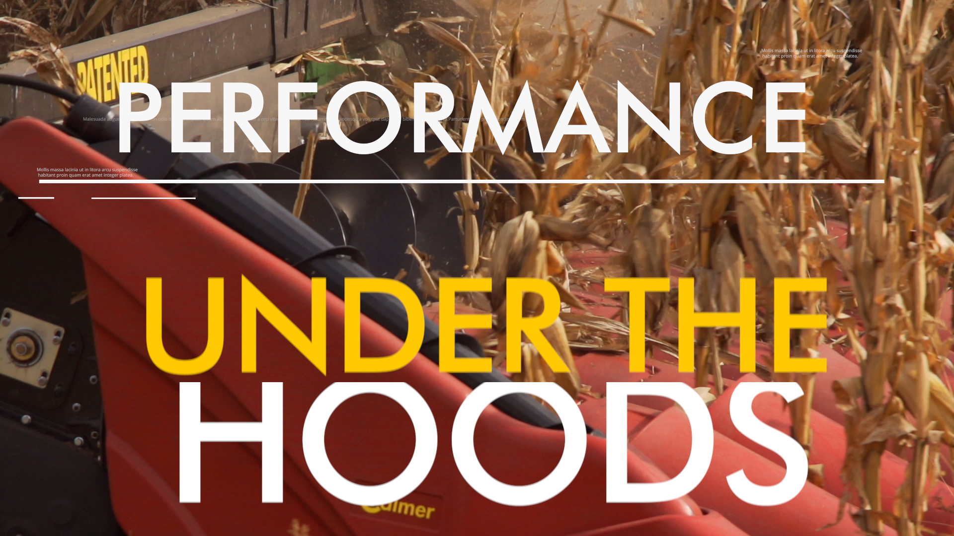 performance under the hoods