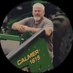 Randy Dowdy uses Calmer Corn Heads for 15 inch corn